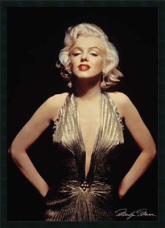 Marilyn Monroe (Gold) Framed Photographic Print