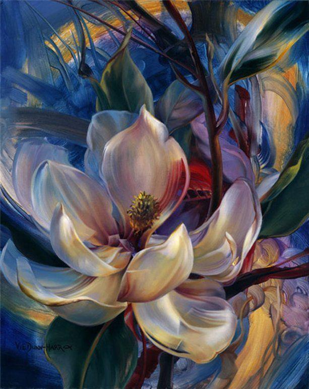 NaturesJewelery - Flower Paintings by Vie Dunn-Harr  <3 <3