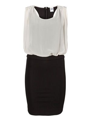 LAWYOO S/L SHORT DRESS #veromoda #dress #party #blackandwhite #elegant @Veronica MODA