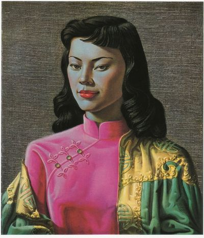 A print of the iconic Tretchikoff Miss Wong Artwork on Canvas