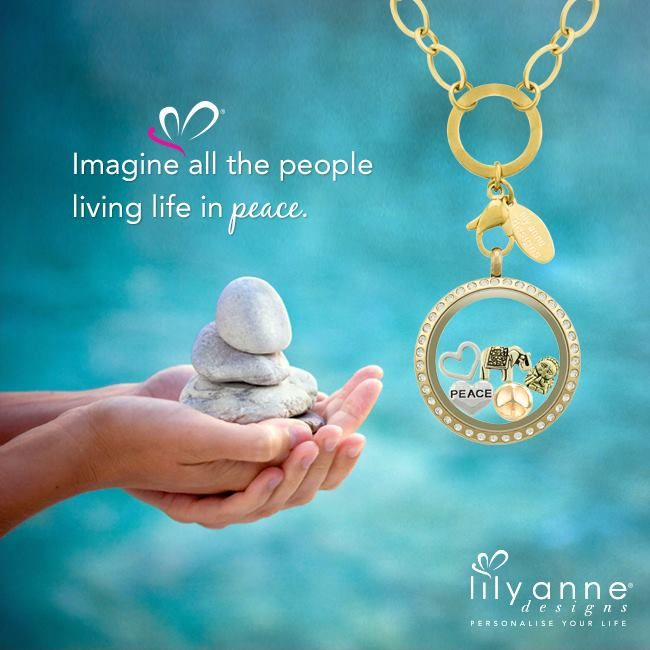 {Imagine all the people living life in peace} #LilyAnneDesigns #PersonalisedLockets #CapturingMoments #FreeToBeMe #Peace