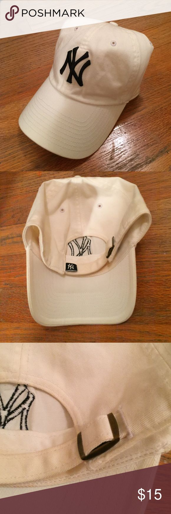 Yankees hat New York Yankees Official Hat. Adjustable fitting. Worn once. Slight make up on inside of hat. Smoke free home! Accessories Hats