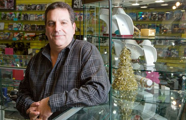 """THURSDAY: Dean Robins in his """"Swap N Shop"""" pawn shop on Merivale Road on Thursday, December 5, 2013. The city of Ottawa is looking to crackdown on pawnshop owners by reviewing provincial legislation. 1206-CITY-PAWNSHOPS"""
