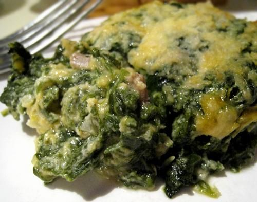 """How I got my family to eat spinach"" Spinach Casserole. Photo by Caroline Cooks"
