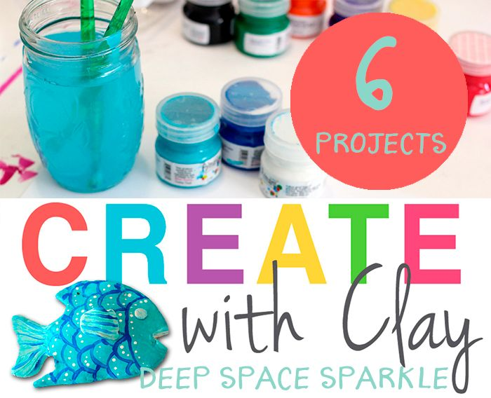 Create with Clay: 6 Air Dry or Kiln Clay Art Projects for kids