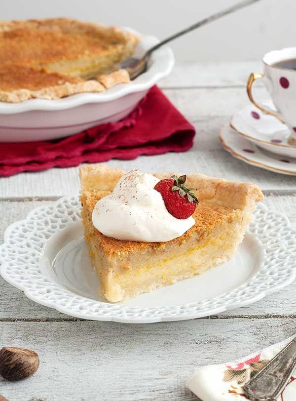 Gluten Free Buttermilk Chess Pie (optionally dairy free)