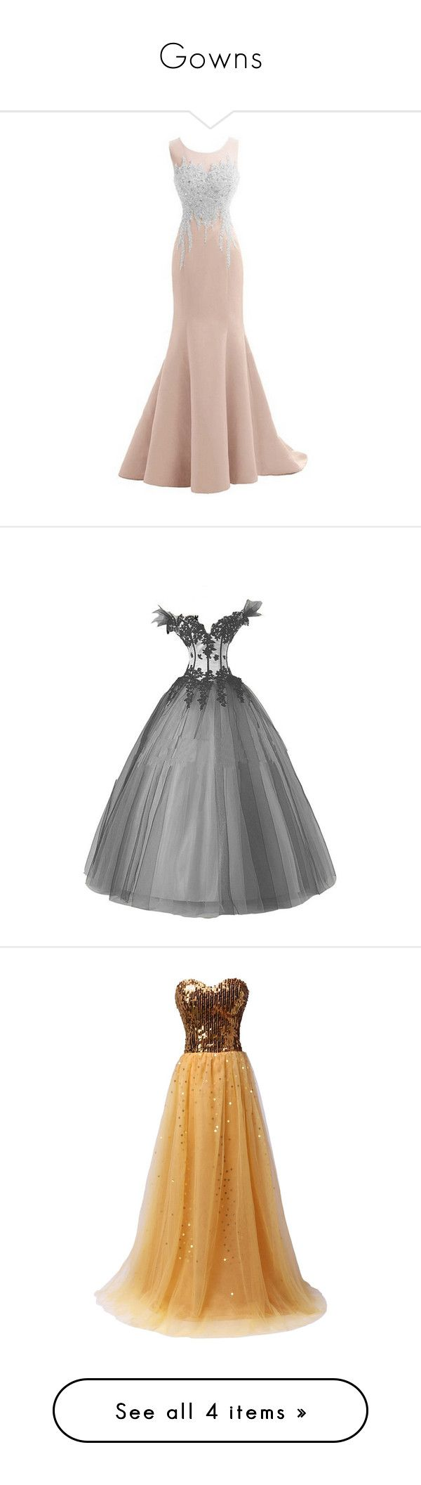"""""""Gowns"""" by morgimoo21 ❤ liked on Polyvore featuring dresses, sexy backless dresses, backless prom dresses, white prom dresses, sparkly homecoming dresses, sexy white dresses, gowns, long dress, robe and black and white evening gowns"""
