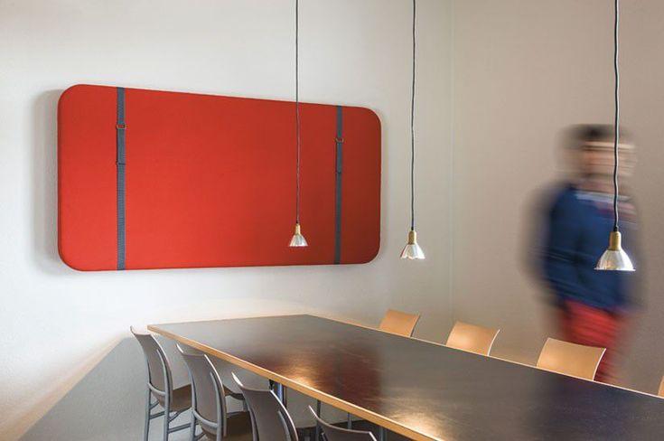 Pannello acustico in feltro / da parete / per ufficio SILENTO MURALE by Atelier Oï   Ruckstuhl AG