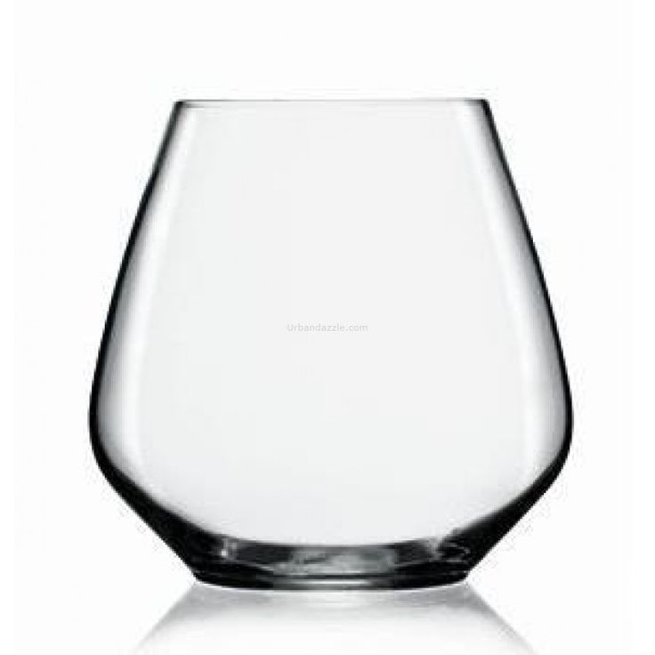 """Luigi Bormioli  Atelier Pinot Stemless 590ml.    Stemless """"Atelier"""" wine glasses by Luigi Bormioli. These eye-catching glasses will forever change the way you enjoy wine. Perfect for everyday sipping as well as special soirées."""