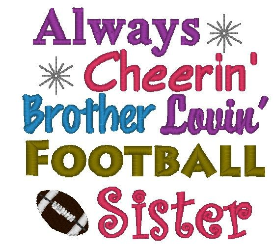 Instant Download Always Cheerin Brother by ChickpeaEmbroidery, $3.50