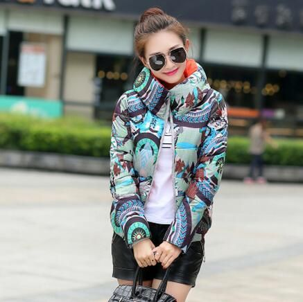 Wayvigo  Winter Jacket Slim Warm Down cotton clothing Long sleeve Coat cr