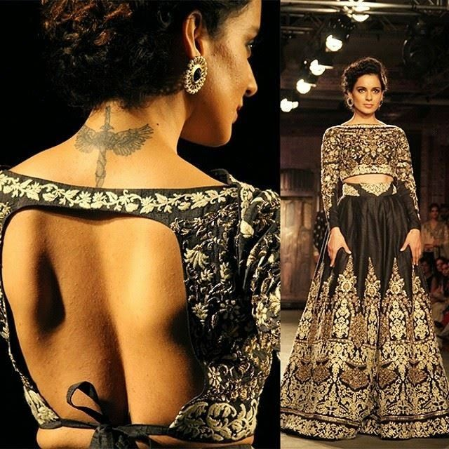 ICW 2014: Anju Modi This would be the coolest in royal blue!!