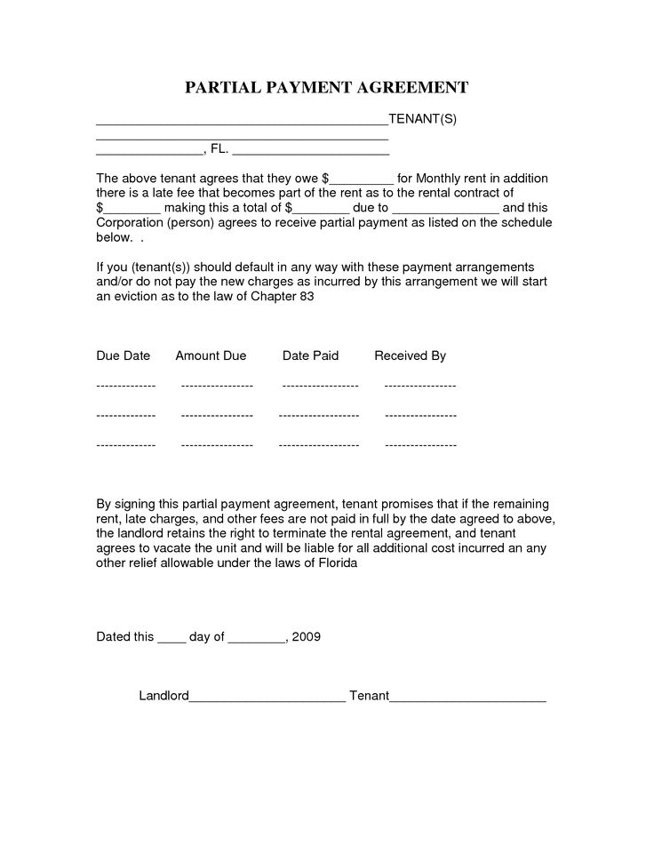 Payment Agreement Template Sample Contract For Deed Form Template