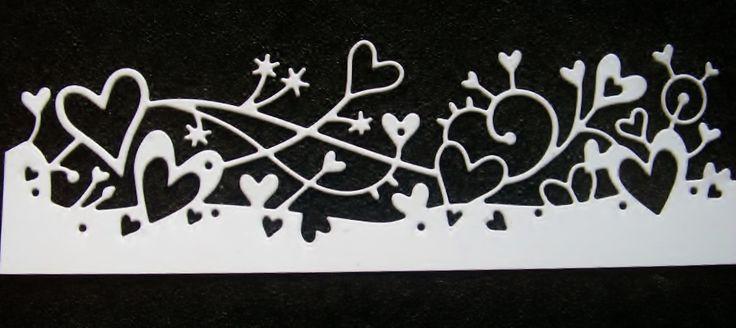 88-srdcová+bordura+Výsek+z+papíru-grafická+čtvrtka220g/m2-velikost+cca+15cm+x+4cm.
