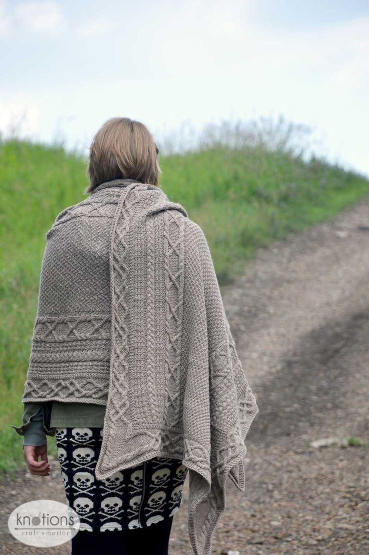 Inis Orr is a free pattern from Knotions knit in our Valley Yarns Northampton. This cabled wrap features lots of texture!