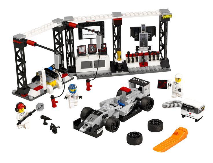 LEGO Speed CHampions McLaren Mercedes Boxenstopp