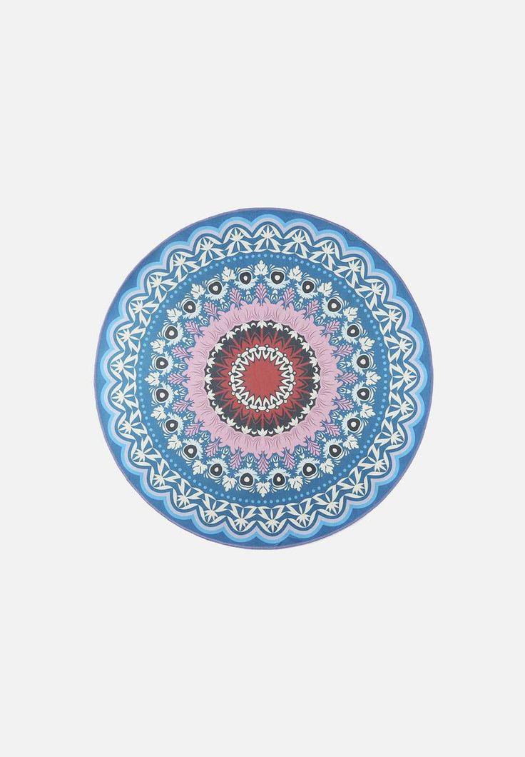 Round Boho Printed Rug