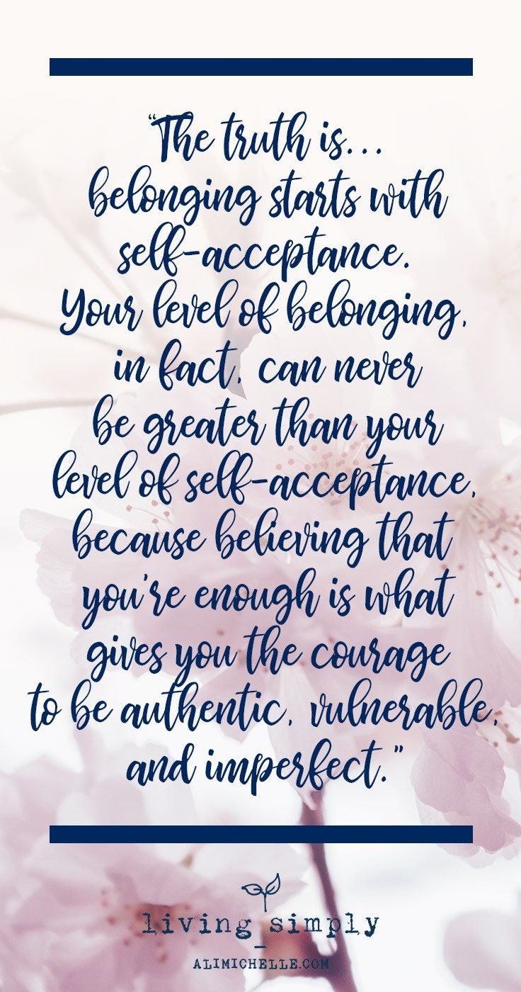 self acceptance is the key to happiness Self-acceptance could be the key to a happier life, yet it's the happyhabit many people practise the least professor karen j pine happiness is more than just a feeling it is something we can all practise on a daily basis.