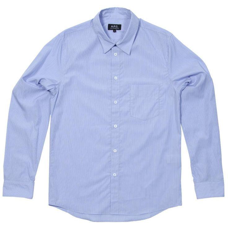 A.P.C. Vintage Striped Shirt (Blue Stripe)