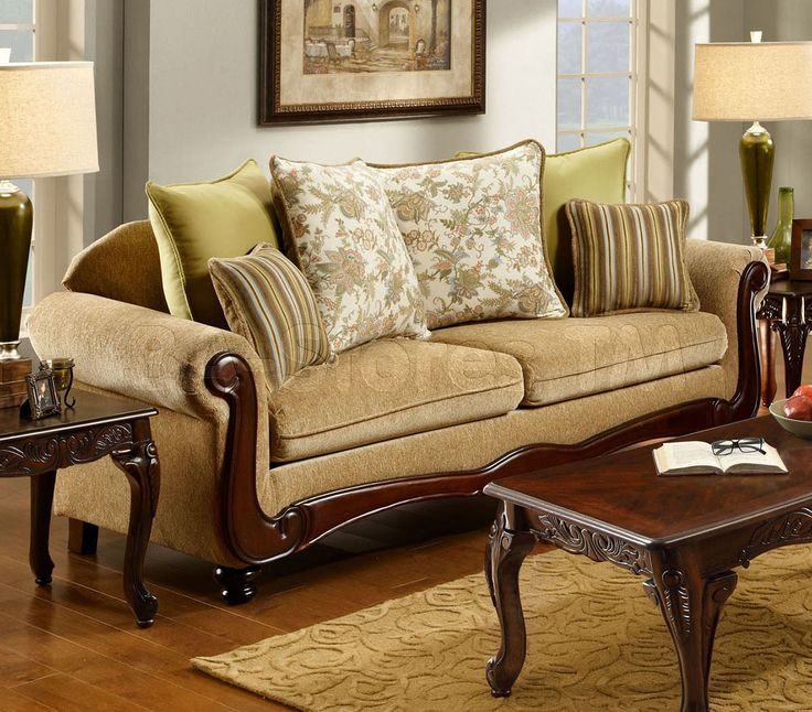 Banstead Sofa In Tan By Furniture Of America