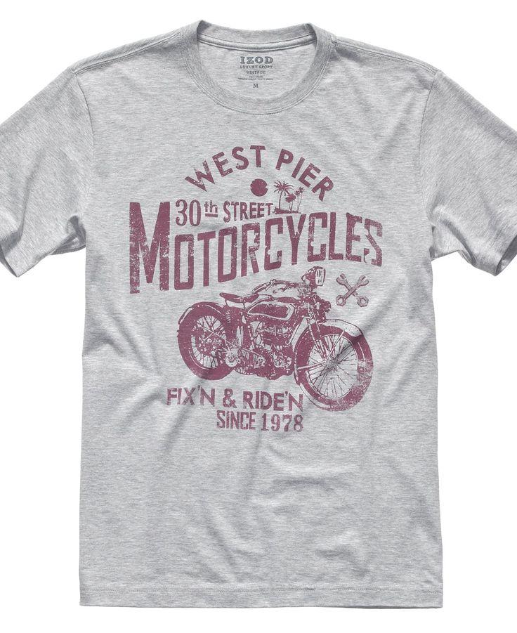 izod t shirt west pier motorcycles graphic t shirt mens