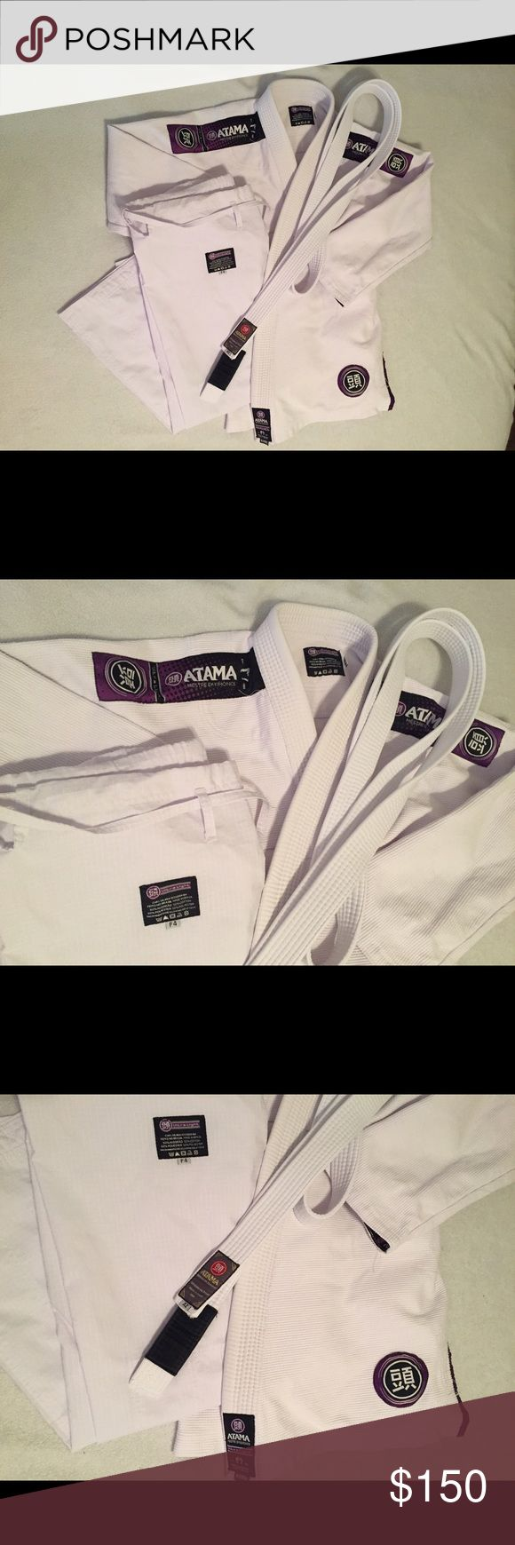 ATAMA Women's BJJ Gi My Atama Gi has been worn a few times. Great, almost new condition. I'm switching gyms and had to buy a different one.  More info: www.atamausa.com for size chart   Atama Ultra Light Kimono Women's, size F4 Atama Jiu Jitsu White Belt, size A2 ATAMA Other