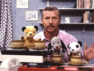Sooty and co:Good old mathew corbitt who had his hand up the puppets bum for years!.The original puppet was bought for mathew by his dad back in the late 40's! The show is the longest running uk children's programme and in 2008 sooty became 60 years old! wow.I used to love watching them in thier little camper van. Sooty was cool sue was bossy and condescending, and then there was sweep and that annoying squeeky voice! either use sign language or shut up sweep!