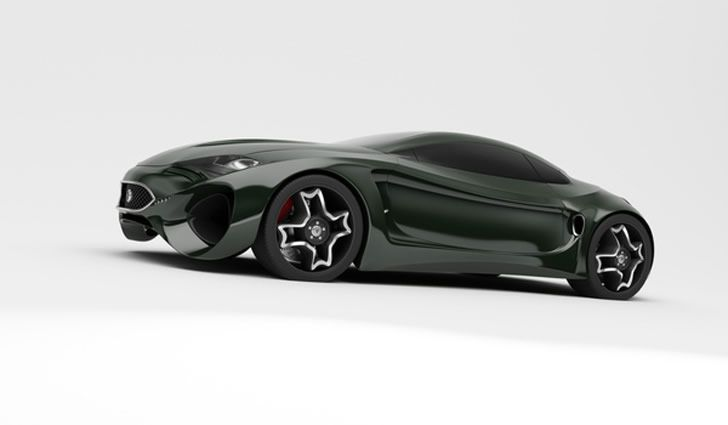 """Inspired by the Jaguar E-Type (1961-75), design studio Skyrill and Marin Myftiu have developed a beautiful concept car called the """"Jaguar XKX."""""""