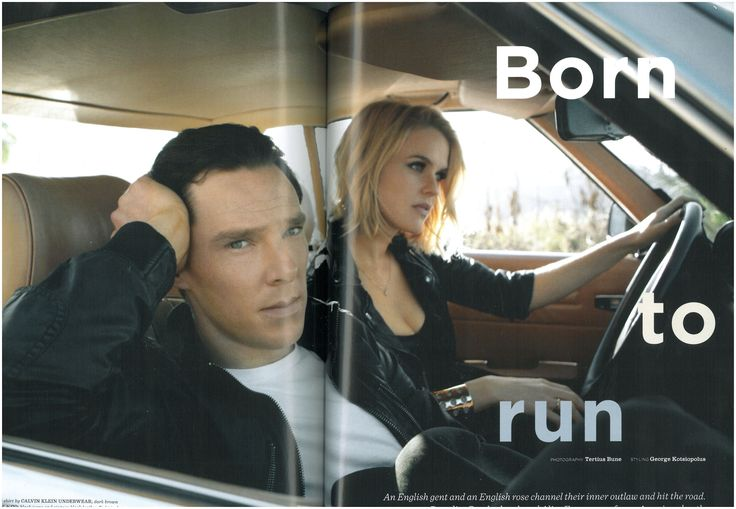 Benedict Cumberbatch and Alice Eve in 2014 British GQ Style. (Click through for large HQ image.)