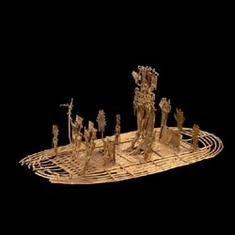 Balsa muisca (figura de ofrenda) Oro. 600 d.C. - 1600 d.C. Pasca, Cundinamarca 10,2 x 19,5 x 10,1 cm