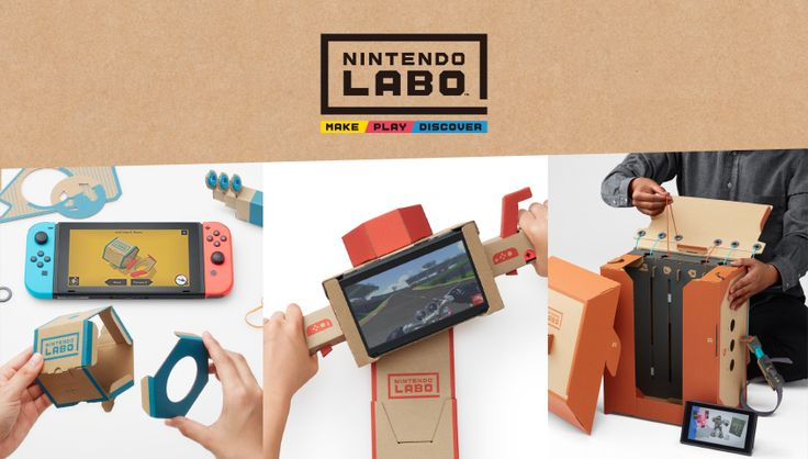 Experience a whole new way to interact with Nintendo Switch as you Make, Play and Discover with Nintendo Labo. Now available at retailers nationwide, Nintendo Labo kits offer interactive build-and-play experiences that combine the magic of the Nintendo Switch system* with the fun of DIY creations.