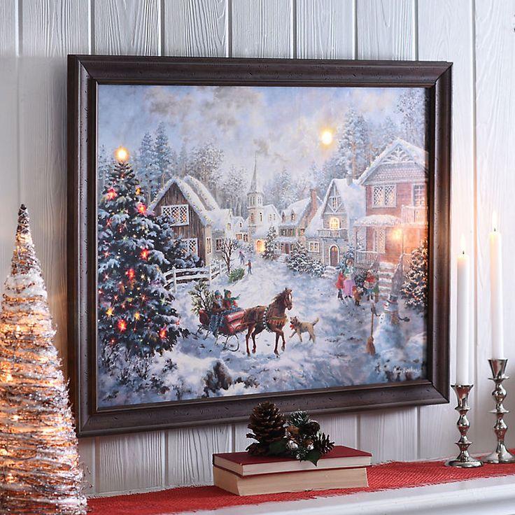 A Merry Christmas Led Framed Art Print Merry Christmas