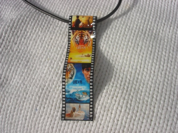 life of Pi movie film miniature charm neclace by andreachalari, $11.00