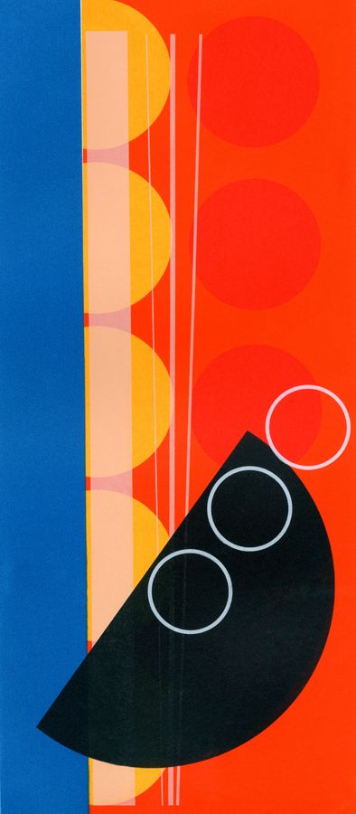 Abstract screen print by Amy Lanyon