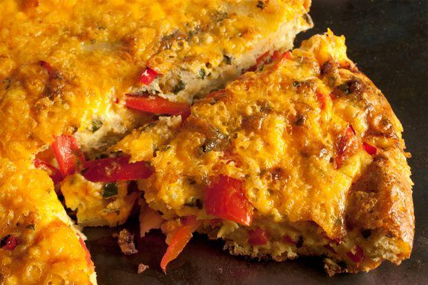 Bell Pepper and Potato Frittata Recipe - (nope to self, half the recipe, 8 eggs and add spinach) Yum