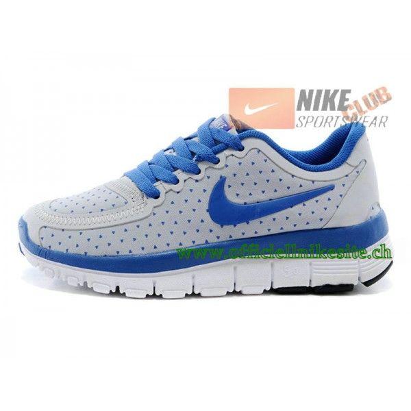 Nike Free 5.0 PS Chsussures de Running Pour Enfant Blanc/Bleu-Boutique de  Chaussure