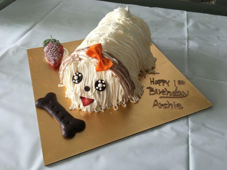 Archie's birthday dog cake