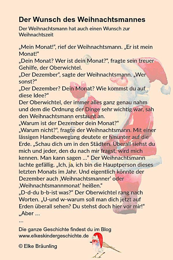 """Der Wunsch des Weihnachtsmannes """"Mein Monat!"""", rief der ..."""