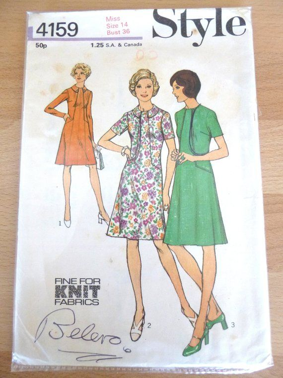 Vintage Dress Sewing Pattern Style 4159 Size 14 Etsy Vintage Dress Sewing Patterns Vintage Sewing Books Sewing Patterns