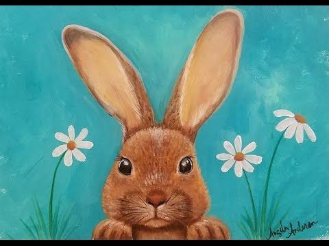 Rabbit Acrylic Painting Tutorial LIVE Step by Step Lesson