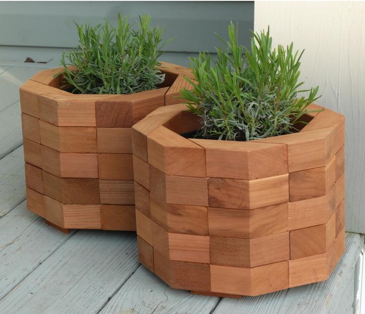 Octagon Planters - bentwoodwork