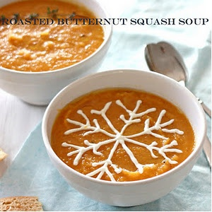 Roasted Butternut Squash With Kale And Almond Pecan Parmesan Recipe ...