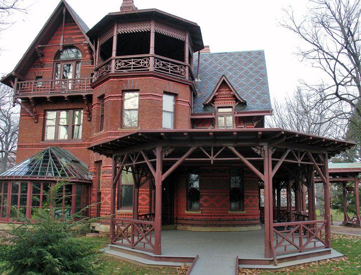 Mark Twain House in Hartford, Connecticut - Travel Photos by Galen R Frysinger, Sheboygan, Wisconsin
