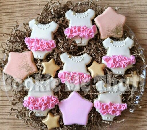 Baby shower cookies Onesie tutu cookies