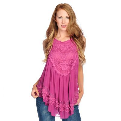 939d7323ee5 Indigo Thread Co.™ Crochet   Mesh Sleeveless Partially Lined Babydoll Top