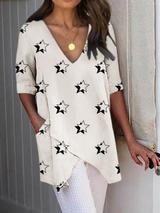 Half Sleeve Irregular Plus Size Blouses Asymmetrical Hem Shirts 9