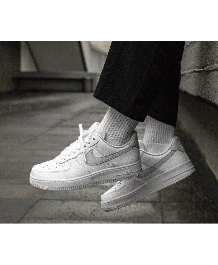 6dbc49dbef2 Nike Air Force 1 Trainers In White Grey