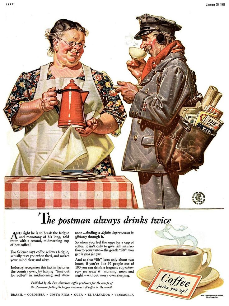 Leyendecker Brothers. One of his iconic coffee ads.