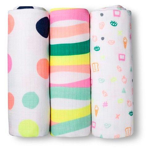 Oh Joy!® 3pk Muslin Swaddle Blanket - Dots