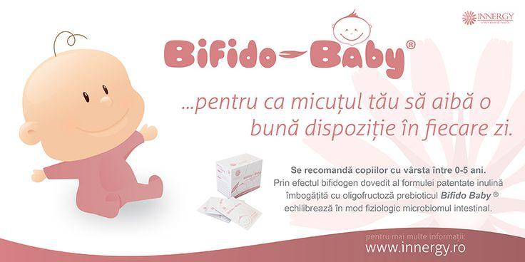 Un plic de Bifido Baby® (4 g inulina imbogatita cu oligofructoza) administrat zilnic pe o perioadă de minim 30 de zile sustine buna functionare a sistemului digestiv. Bifido Baby modeleaza sistemul imunitar, regleaza tranzitul intestinal, Previne aparitia si recidiva atopiilor la sugarii cu risc crescut de atopie si creste absorbtia pasiva de calciu, magneziu si fier de la nivelul colonului.
